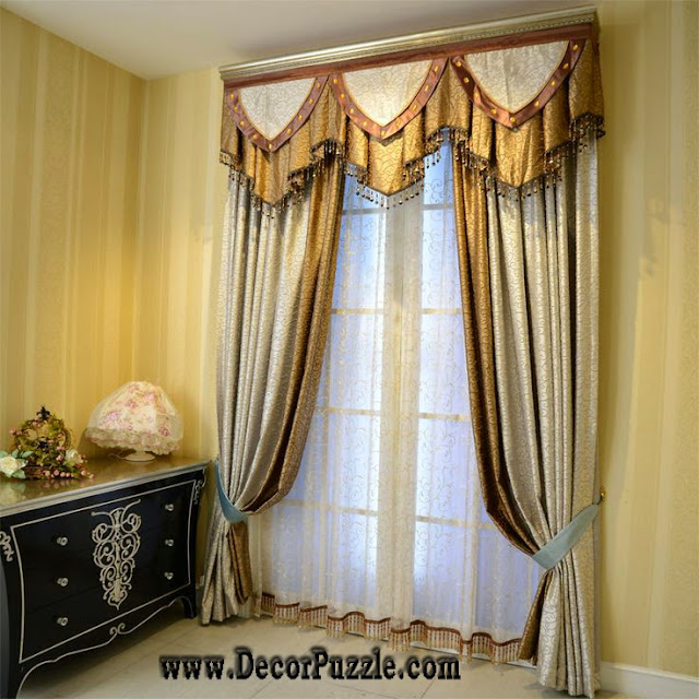 luxury classic curtains designs and valance for stylish interior 2015
