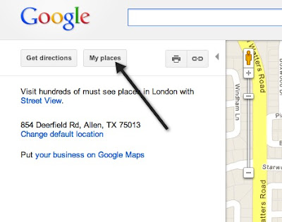 how to delete somthing on google maps that yow searched