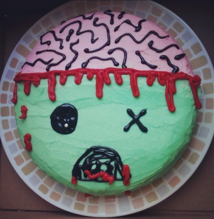Zombie Birthday Party Cake Image Inspiration of Cake and Birthday