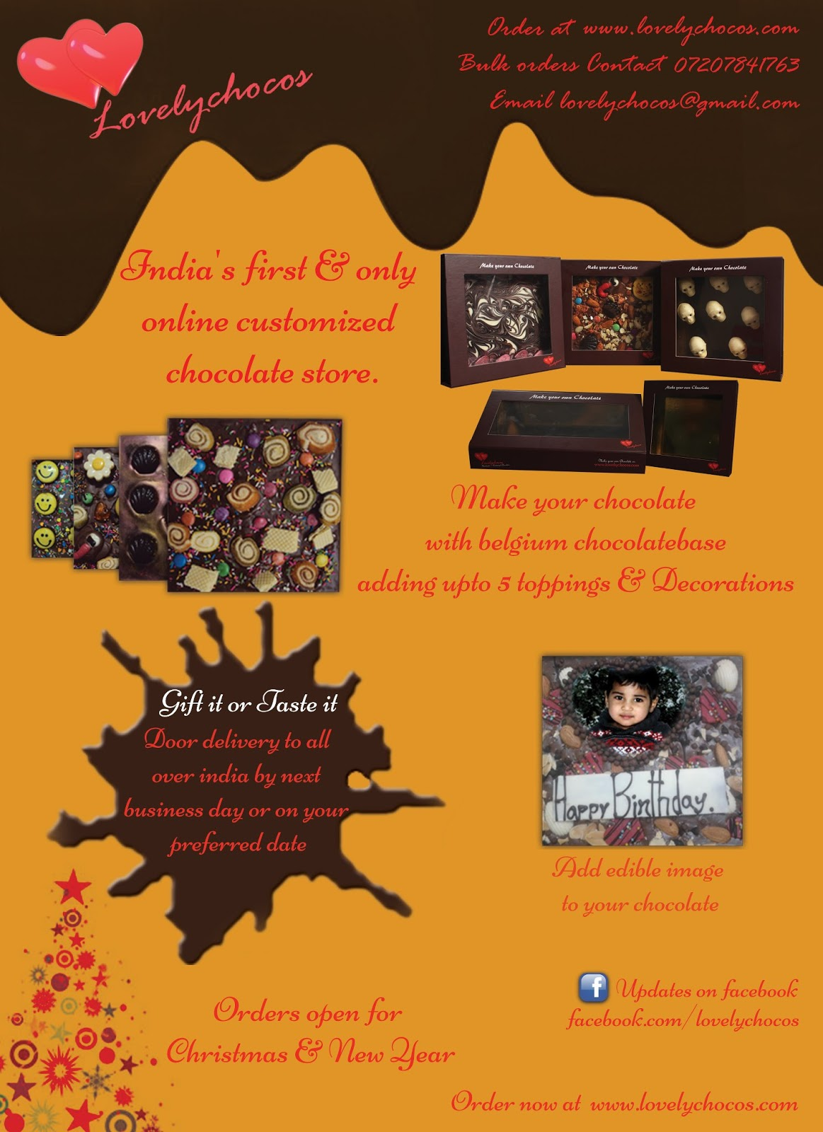 Lovelychocos.com Online Customize Chocolate Store First time in ...