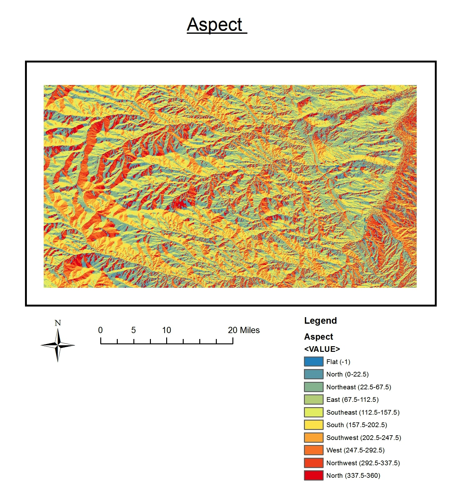 for this weeks lab we produced four different maps using the same data each map showed a different characteristic hill shape slope aspect and a 3d