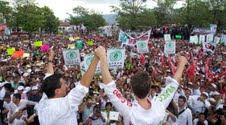 Peña Nieto aclamado en Chiapas.