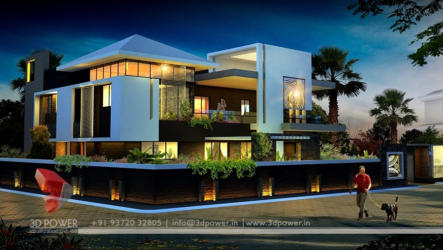 Ultra modern home designs home designs home exterior for Home plans 3d designs