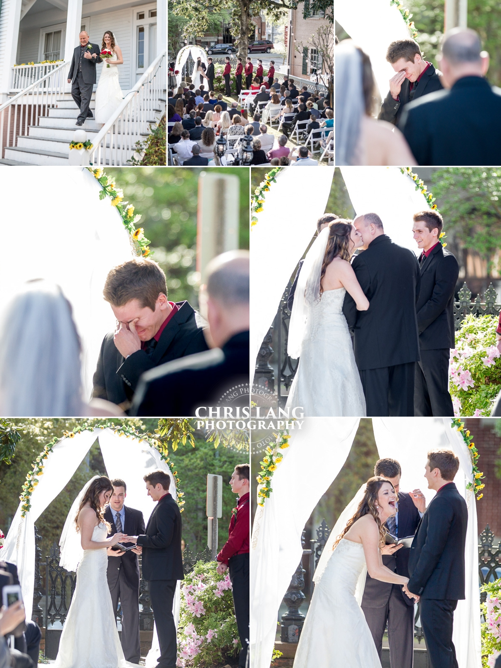 Pictures of Wedding Ceremony at Bellamy Mansion - Wilmington NC Wedding Photographers