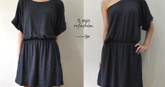A quick toga dress refashion