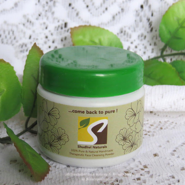 Shudhvi Naturals Therapeutic Face Cleansing Powder Review, Pictures & Price, Indian beauty blog, indian beauty blogger, indian makeup and beauty blog, Product review, Shudhvi naturals review, Shudhvi natural face cleanser, Face wash review, ayurvedic skincare products review, Indian skincare brands