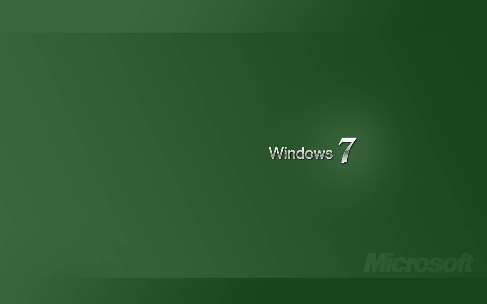 Wallpapers Green Windows 7 Wallpapers