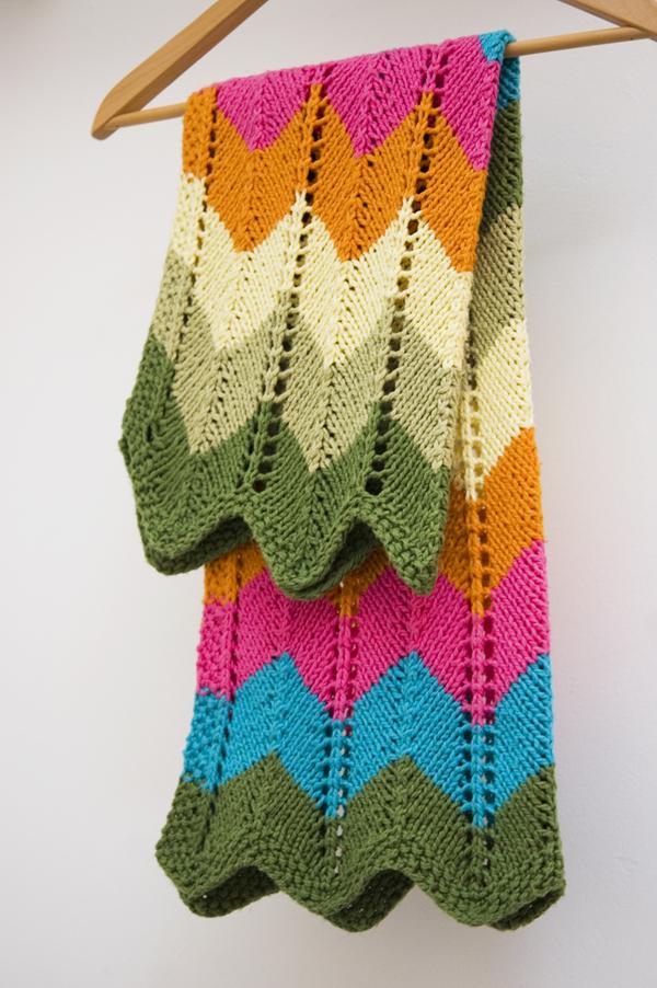 Zig Zag Crochet Baby Blanket Pattern Free : Manta de beb? zig zag em tricO