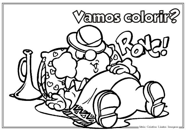 Desenho de Dia do Circo para colorir