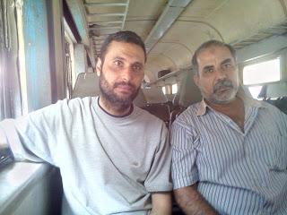 ايمن لطفى وسعيد الصباغ  فى الاسكندرية اثناء العمل بمراجعه مواد قانون التعليم