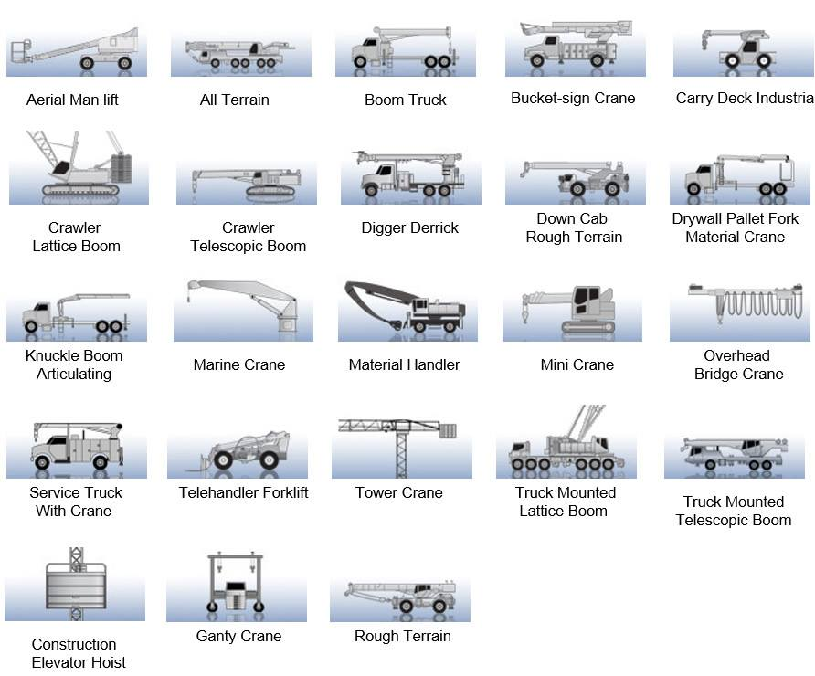 What Are The Different Types Of Cranes : Cranes types mechanicstips