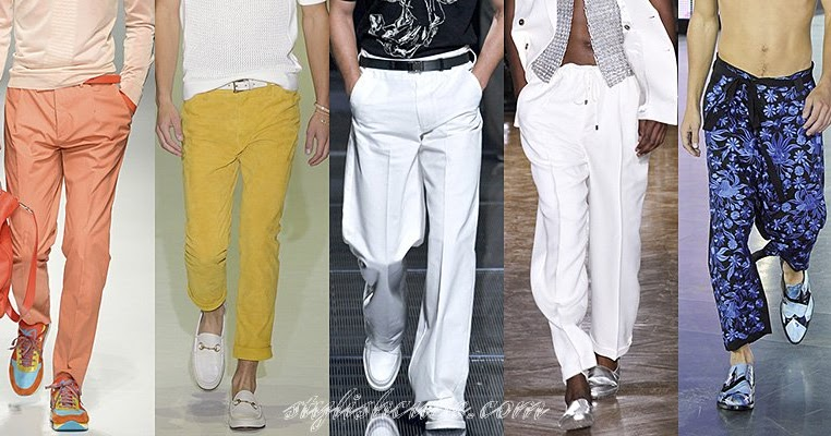 spring summer 2013 mens fashion pants trends spring