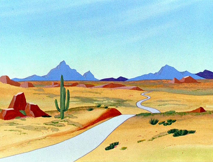 Looney tunes desert background - photo#15