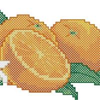 Oranges pattern preview. Free cross-stitch patterns