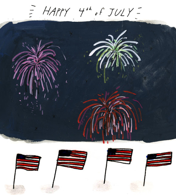 4th of July Illustration by Elizabeth Graeber