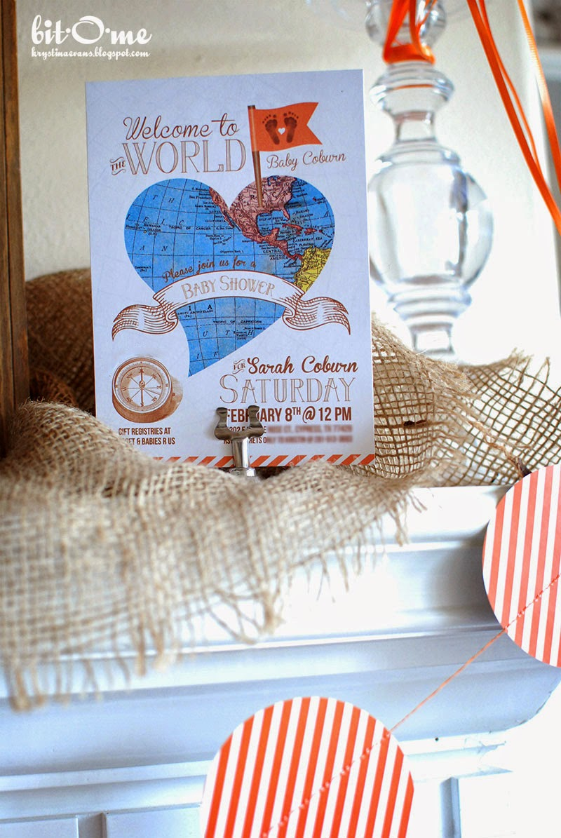 Bit-O-Me: Welcome to the World Baby Shower {The Invitation}