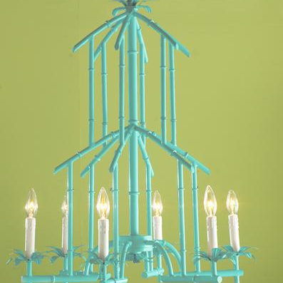 Chinoiserie chic the faux bamboo chandelier the faux bamboo chandelier aloadofball