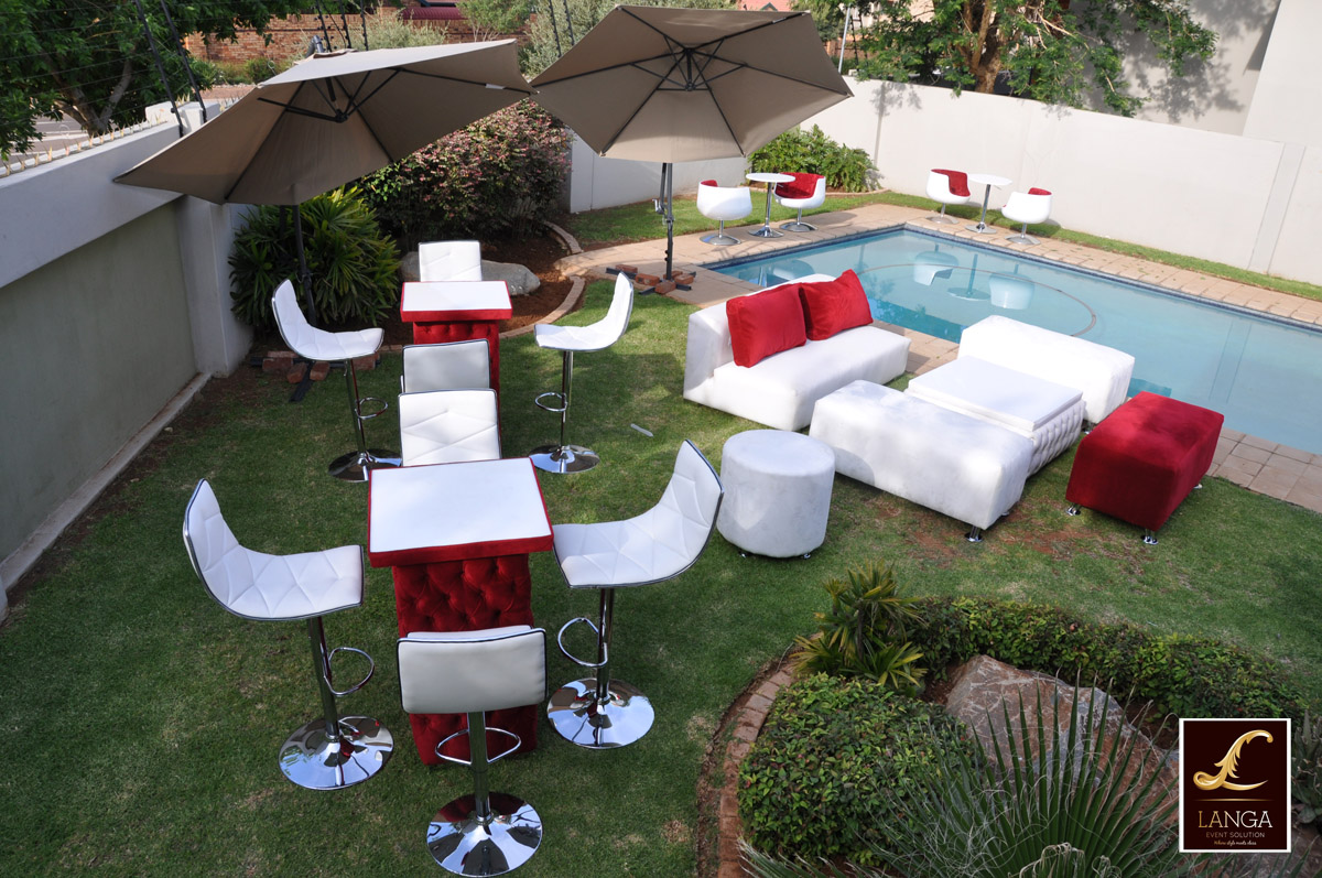 Event furniture for hire for Cocktail tables johannesburg