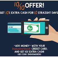 IndusInd Bank Credit Card get 10% Cashback on Rs. 100 Deposit Via  Mobikwik:buytoearn