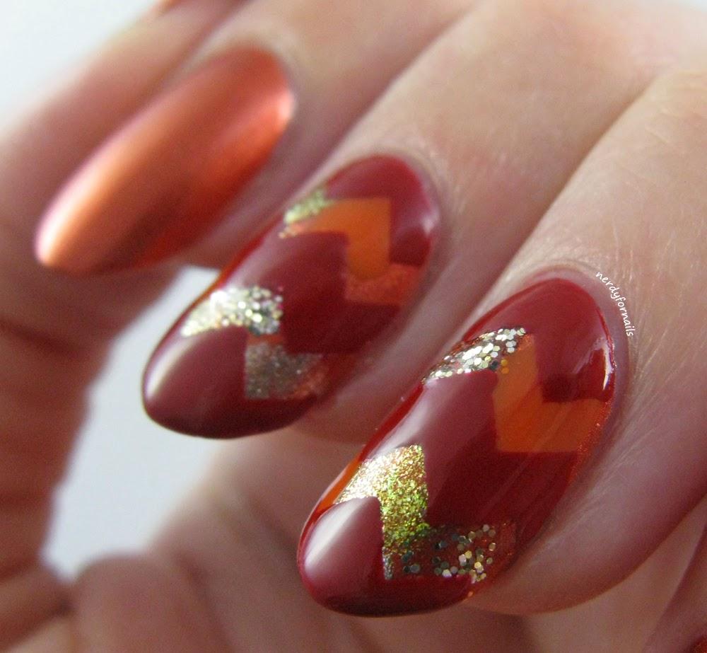 Nail Vinyls fall nail art zig zag