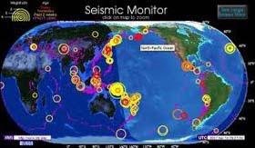 Mapa de terremotos y sismos en el mundo - en tiempo real