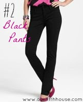black pants wardrobe essentials