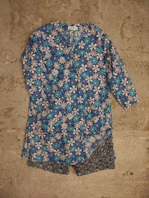 FWK by Engineered Garments Long Beach Short in Blue/White PC Floral Jacquard Spring/Summer 2014 SUNRISE MARKET