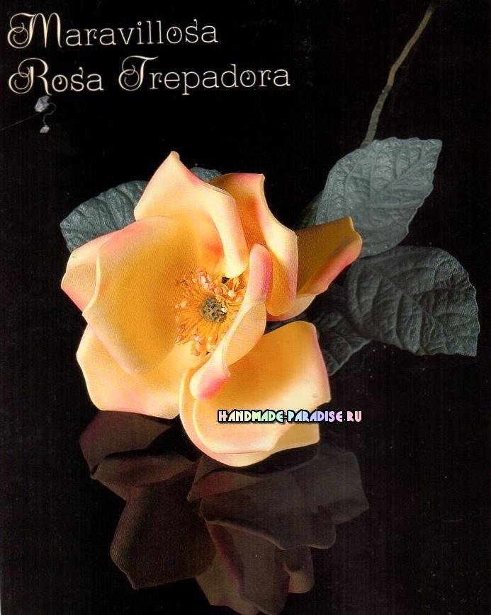 Роза из фоамирана. Шаблоны цветов
