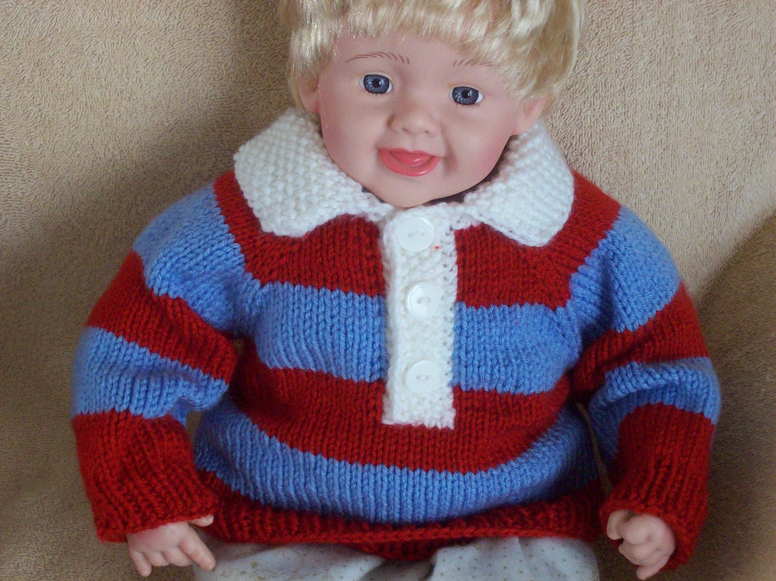 nan knits baby rugby pullover. Black Bedroom Furniture Sets. Home Design Ideas