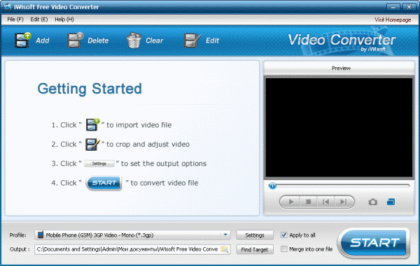 iWisoft Free Video Converter 1.2