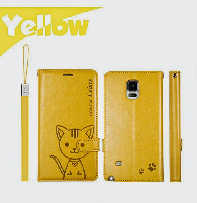 เคส Note 4 พร้อมส่ง 102067 สีเหลือง