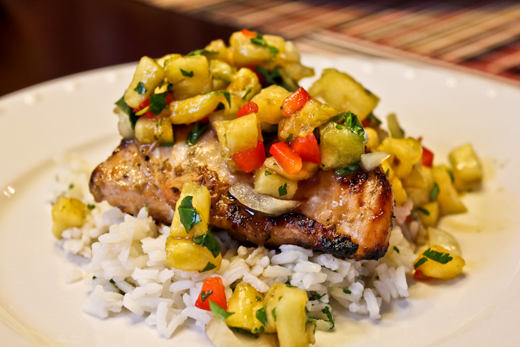 Brews & Food: Jerk Chicken with Pineapple Salsa and Family