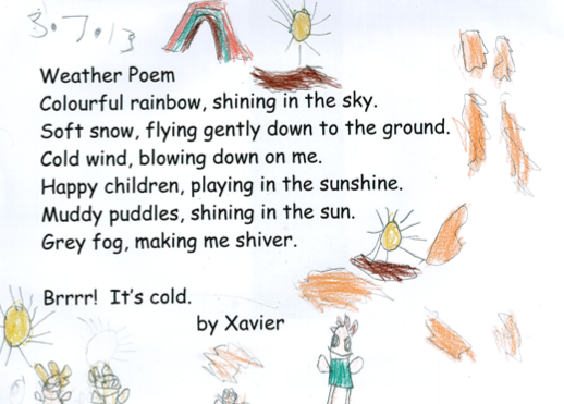PVS Learning Together: Weather Poems