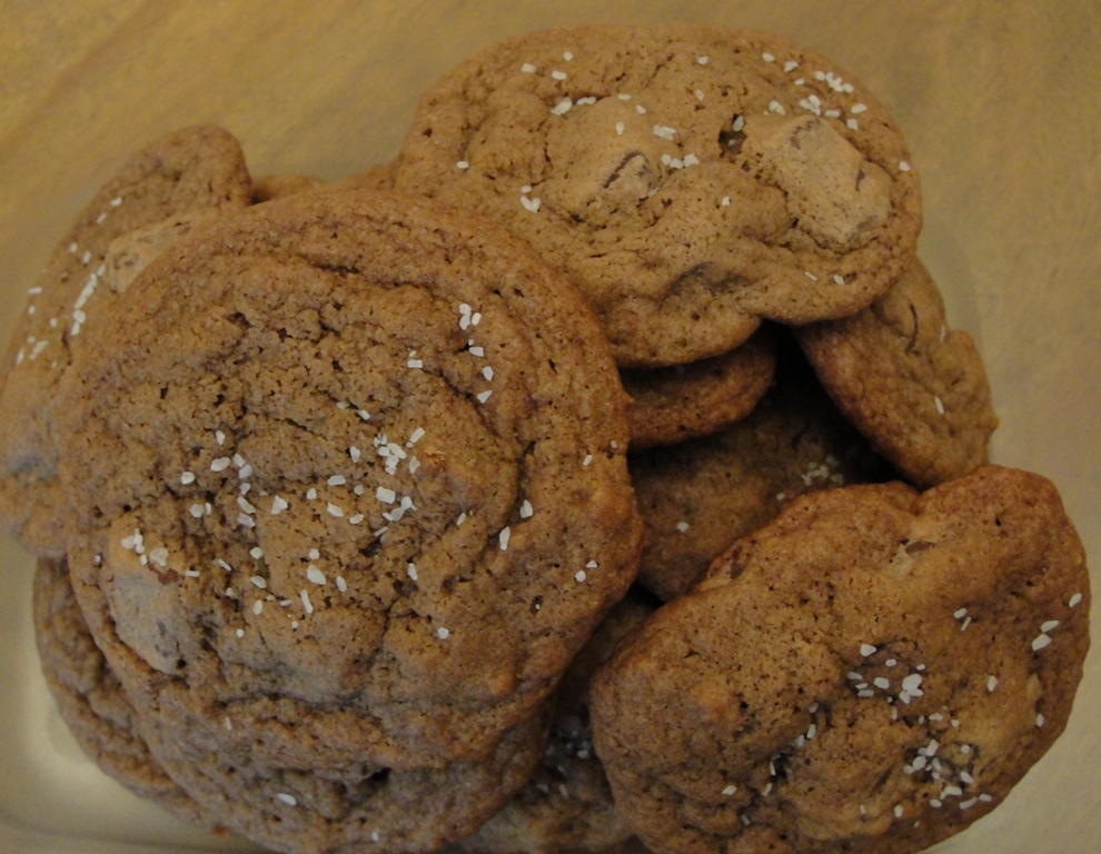 All Things Yummy: Spicy Salted Double Chocolate Chunk Cookies