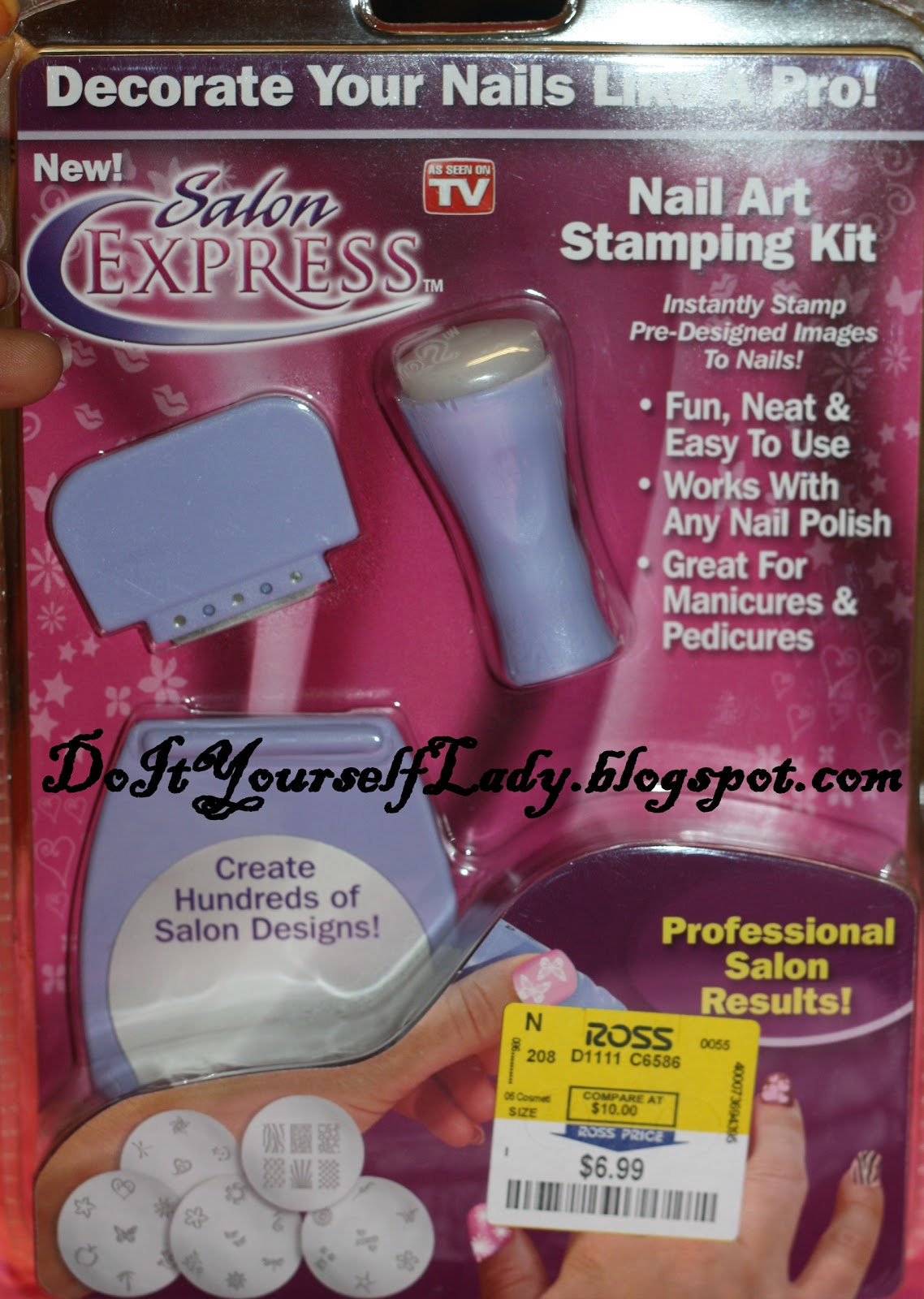 The Do It Yourself Lady Review Salon Express Nail Art Stamping Kit
