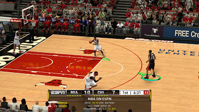 NBA 2K13 ESPN TV Scoreboard