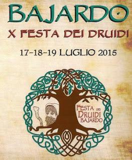 Locandina festa Druidi Bajardo