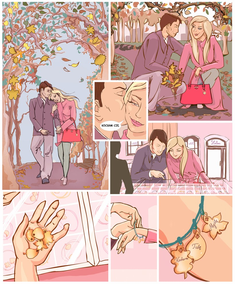 komiks lilou short comic lovely sweet story couple autumn gift heart