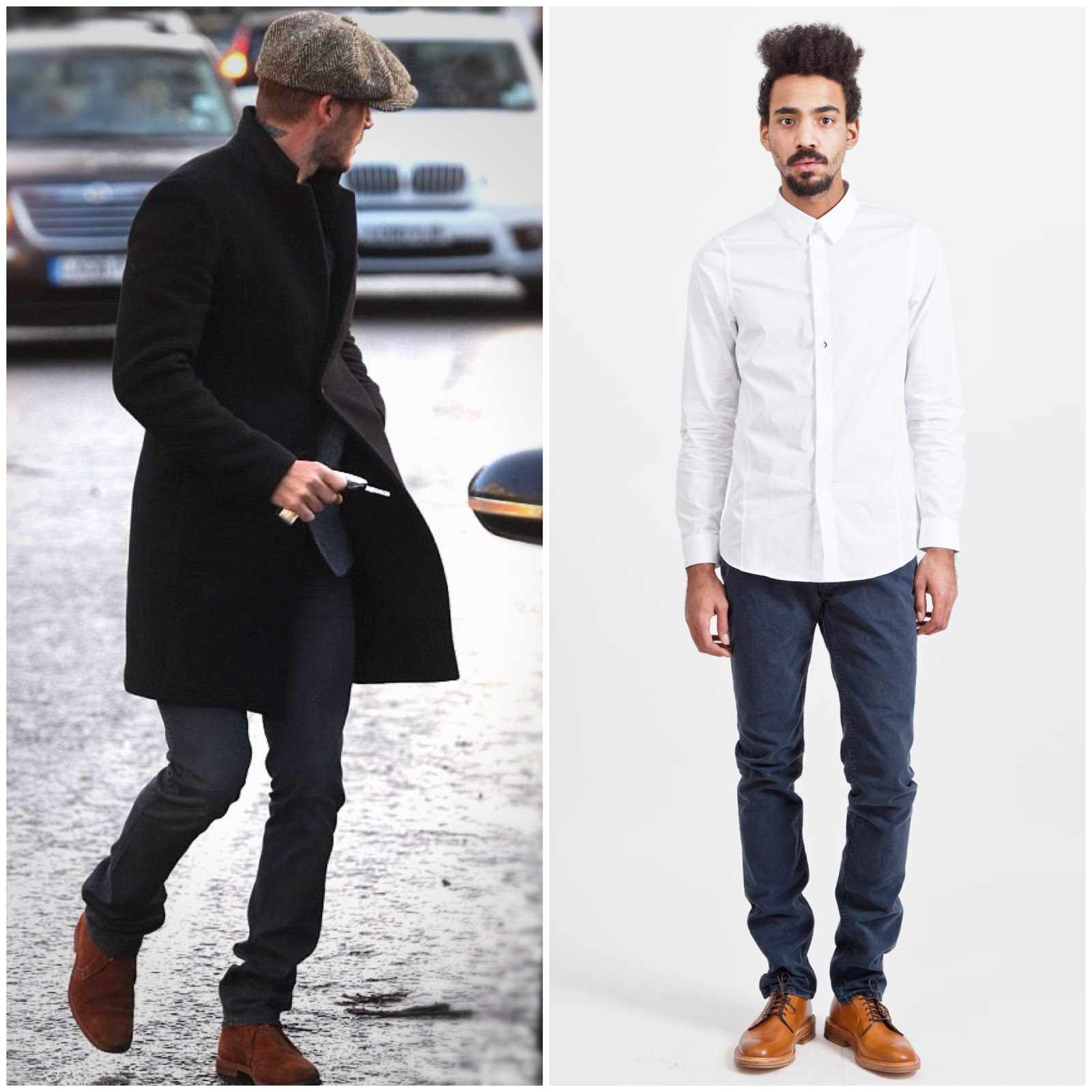 00O00 Menswear Blog David Beckham's ACNE 'Vega Bladerunner' jeans, London before heading to Paris for Saint Germain