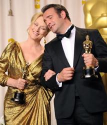 Meryl Streep e Jean Dujardin - Oscar 2012