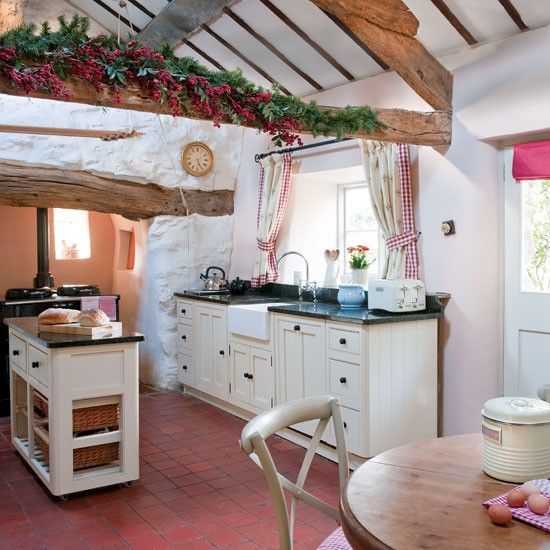 New home interior design step inside this historic welsh for Country style kitchen uk