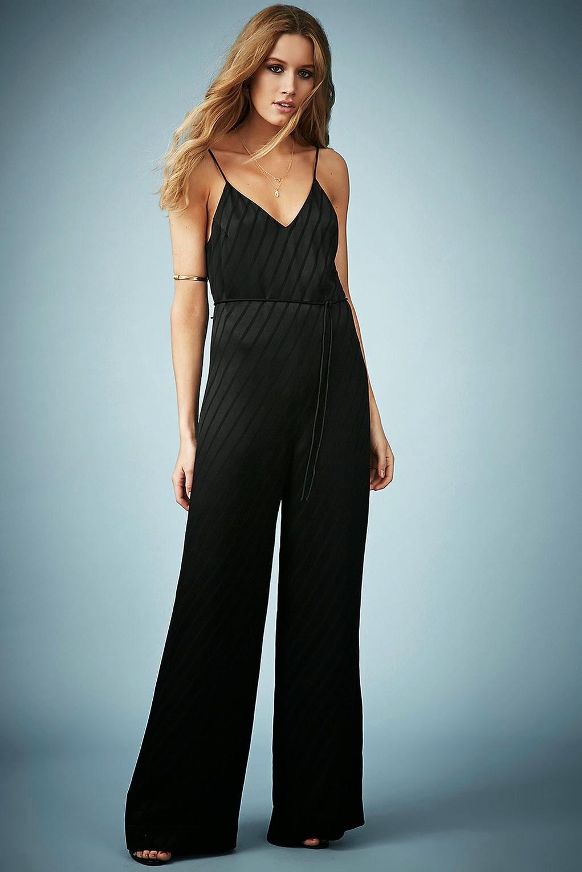 black stripe jumpsuit