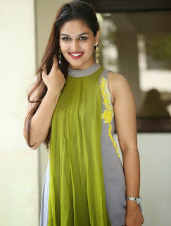 Pragya looks Beautiful Smile in lovely Designer Sleeveless Anarkali at Pisaasu Movie Success meet