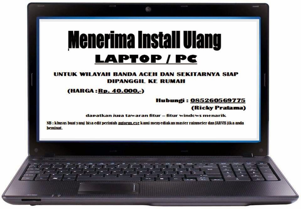 Menerima Install ulang laptop