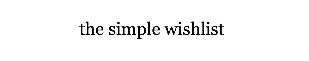 thesimplewishlist