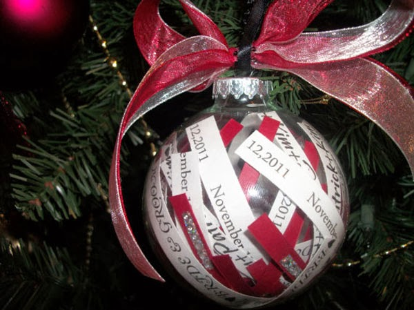 Wedding Christmas tree Baubles Ornament
