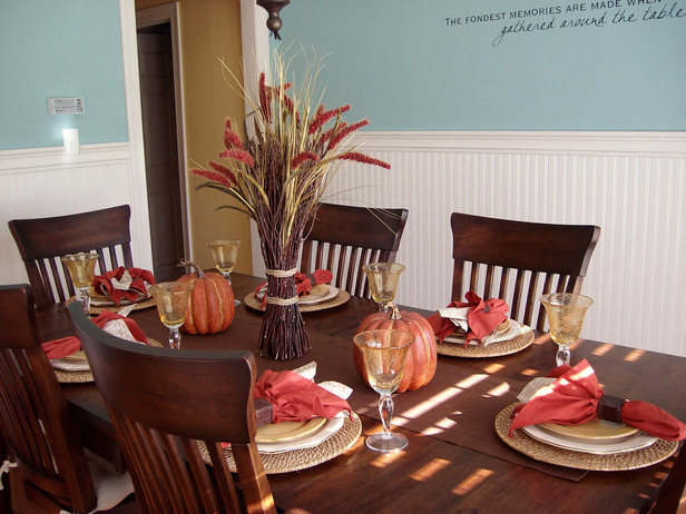 Thanksgiving Table Settings Decoration 2012 Ideas from HGTV