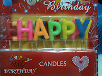 "Lilin Wording ""Happy Birthday"""