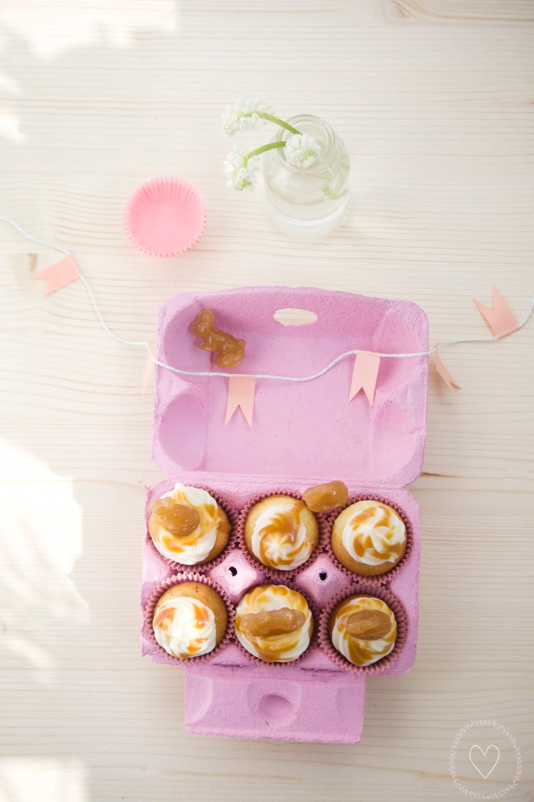 Minicupcakes im Eierkarton