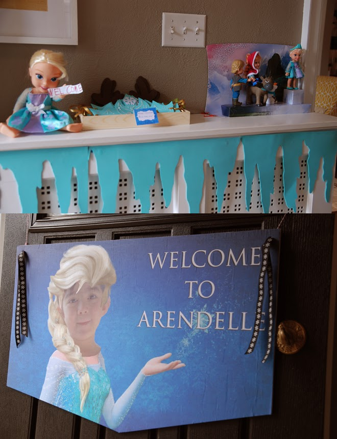 disney frozen birthday party banner door sign